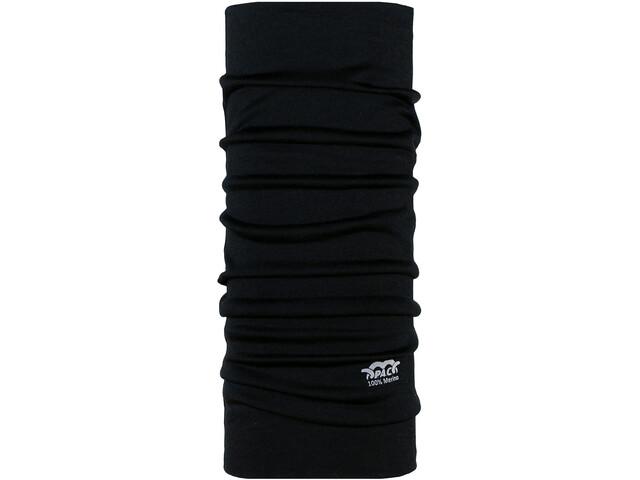 P.A.C. Scaldacollo tubolare in lana merino, black